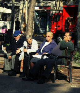 Pensioners in Barcelona