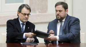 Artur Mas (left) and Oriol Junqueras.