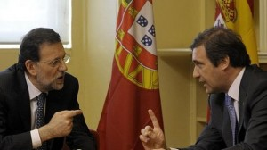 Rajoy and Passos Coelho.