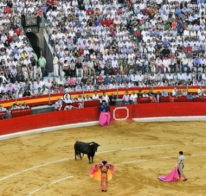 A bull ring in Andalusia