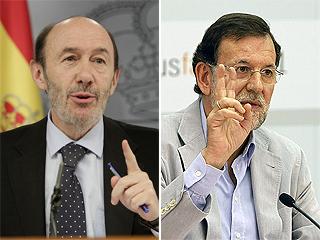 Rubalcaba and Rajoy