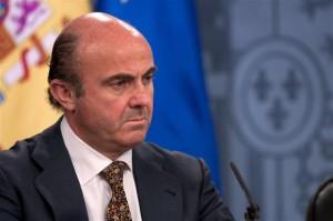 Spain's Economy Minister Luis de Guindos.