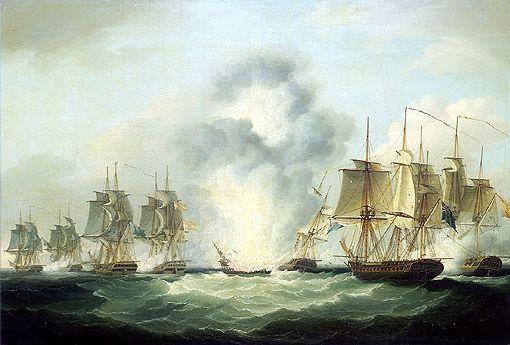 The sinking of the 'Nuestra Señora de Mercedes'.