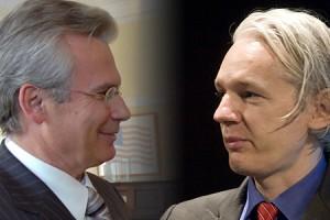 Baltasar Garzón and Julian Assange.