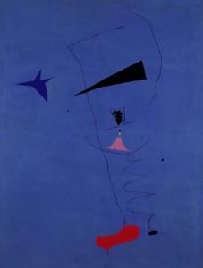 Joan Miró's 'Peinture (Étoile Bleue)'.