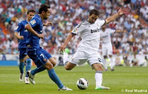 Gonzalo Higuaín in action for Real Madrid.