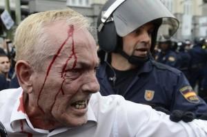 September 25 protest in Madrid.