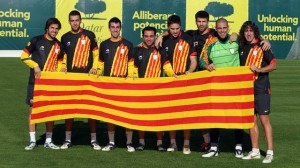 The Catalan football team. Photo: FCB.