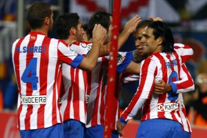 Radamel Falcao celebrates.