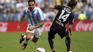 Málaga beat Valladolid 2-1.