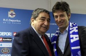 Domingos Paciência with Augusto César Lendoiro