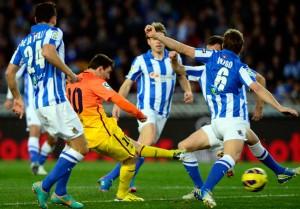 Leo Messi scored against Real Sociedad.