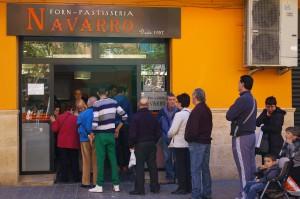 A Navarro bakery in Quart de Poblet.