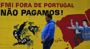Anti-IMF graffiti in Lisbon.
